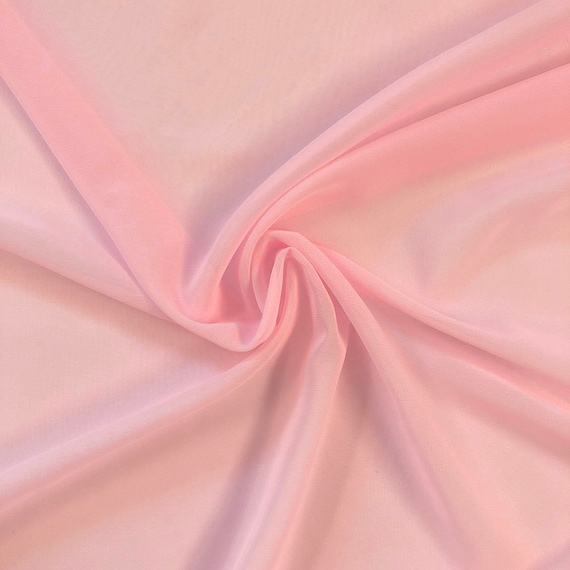 """IVORY 2 WAY STRETCH POLYESTER CHIFFON DRESS LINING-SHEER-58/"""" WIDE-SOLD BY YARD."""