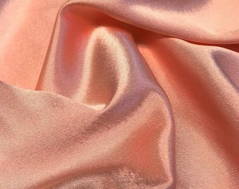 Shrimp Crepe Back Satin Bridal Fabric for wedding dresses, decorations, drapes, crafts crepeback by the yard