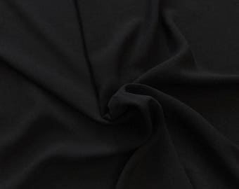 """Black Rayon Challis Fabric 100% Rayon 53/54"""" wide Sold by the Yard Many Colors"""
