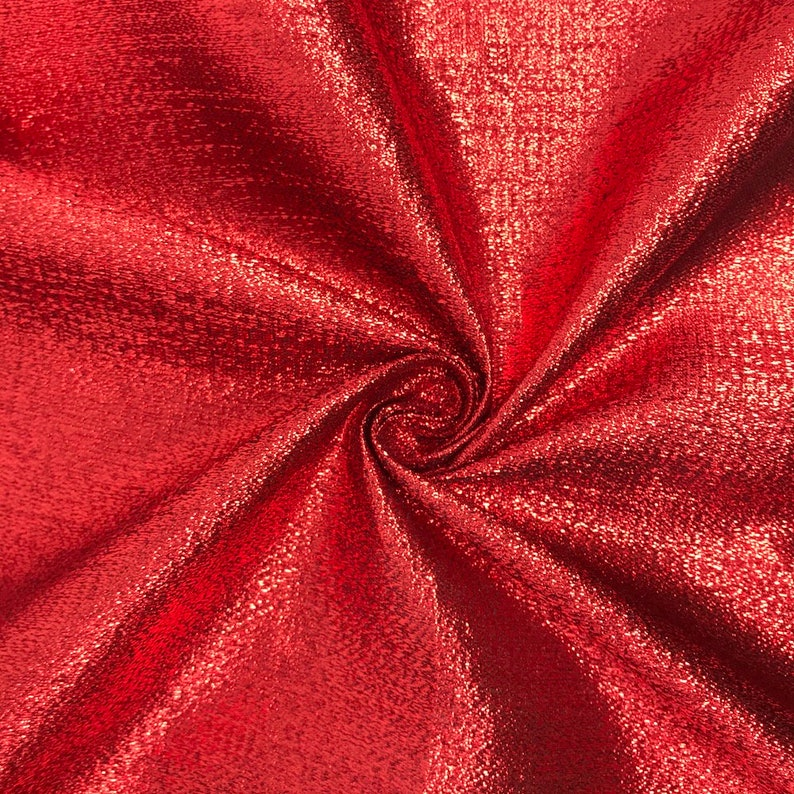 Red Metallic Foil Brocade Fabric 56 Wide 100/% Polyester Sold By The Yard
