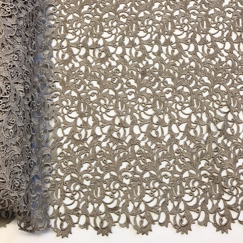 Sand Heather Guipure French Venice Lace Embroidery 52 inches wide many colors