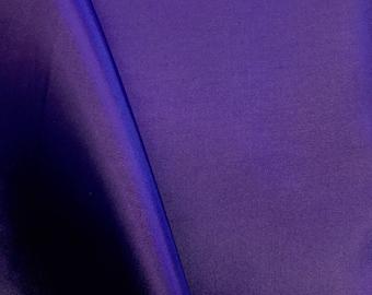 "Purple Polyester Lining Fabric Silk Habutae 60"" Wide Habotai Habutai By The Yard"