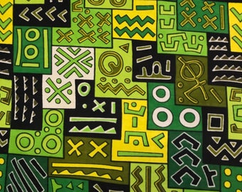 African Print Fabric Cotton Print 44'' wide By The Yard (185172-1)
