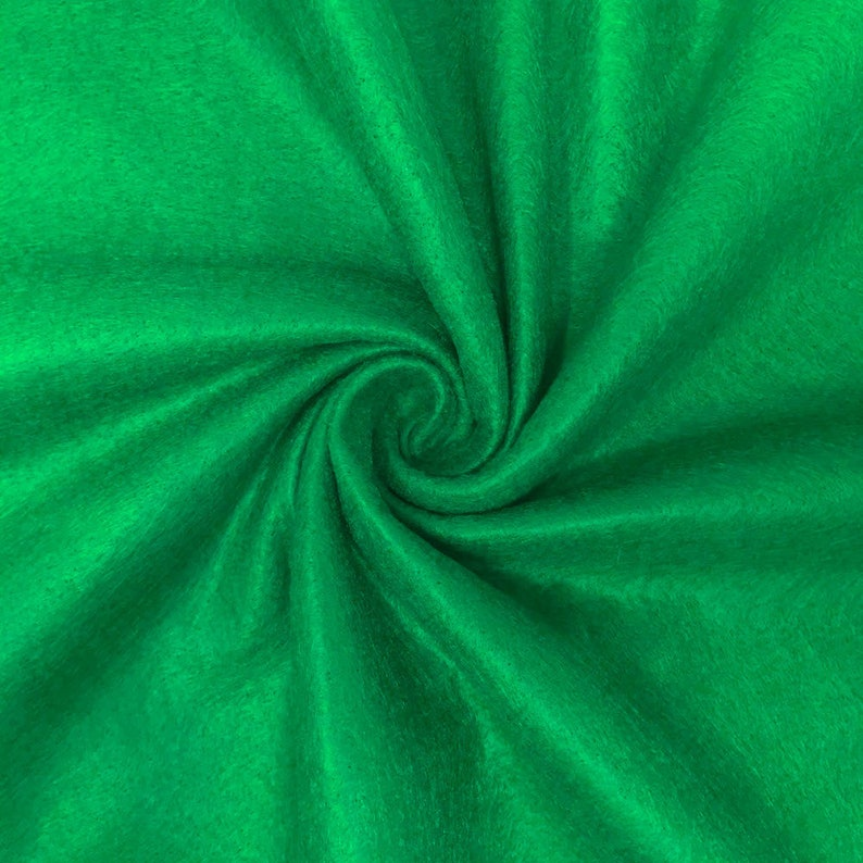 Emerald Green Felt Fabric 100/% Polyester 72 Inches Wide for Arts /& Crafts Cushion and Padding by the Yard