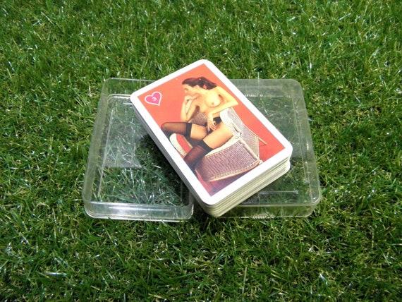 55 cartes érotiques à jouer, cartes à jouer Vintage Nude + boîtier en plastique, zografa allemand chérie II complet pont 55 cartes Bachelor Party Man Cave