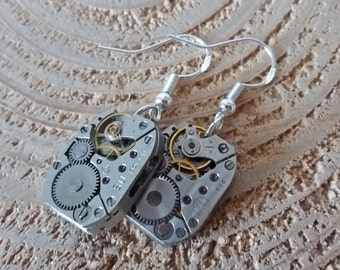Timepiece Earrings / Vintage Watch Mechanisms / Unique and Handmade in Bristol / Birthday Gift / Anniversary Present / Christmas Gift