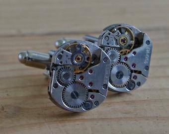 Timepiece Cufflinks / Watch Lover / Vintage / Unique Gift / Handmade in UK / Groomsmen / Anniversary Gift / Thank you gift / Dapper