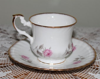 Rosina Bone China Teacup  Pink Rose  Made in England Tea Cup