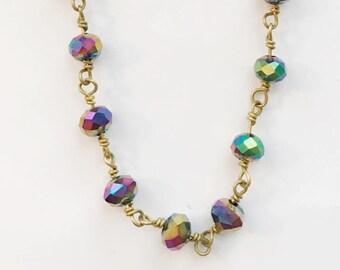 Rainbow Titanium Layering Chain