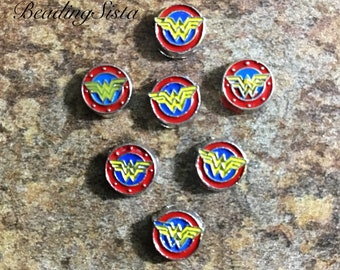 Floating Charms - Wonder Woman - For Memory Locket - 1 Piece
