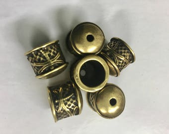 End Cap - Dragonfly - Antique Bronze Plated -2 Pieces - End Caps - Kumihimo Caps