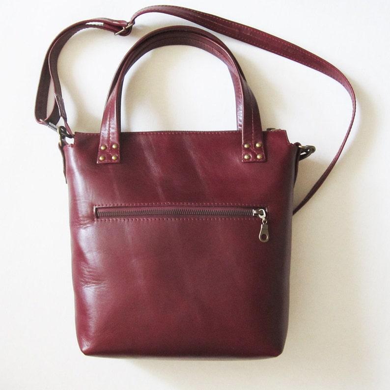 89402d0fce Leather Shoulder Bag Red Wine Colour Women Handbag Leather