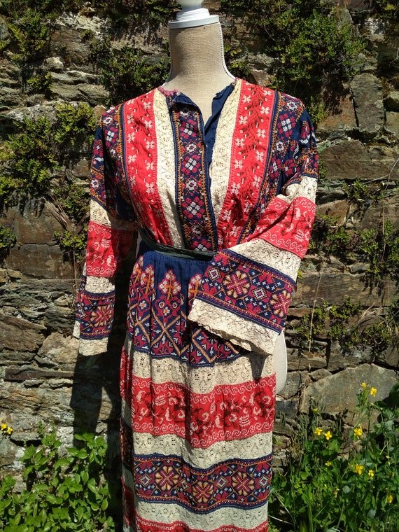 Antique Russian Peasant Costume, Russian Old Cloth