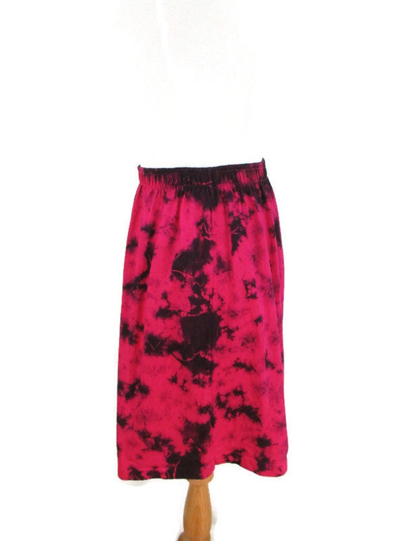 Tie Dyed Elastic Waist Shorts 90/'s High Waist Hot Pink /& Black Abstract Tie Dye Cotton Boho Hippie Shorts Vintage Festival Clothing