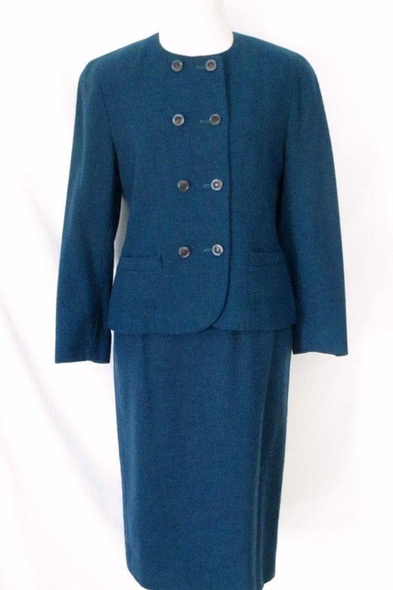 1960s Pendleton Skirt Suit Tailored  Fully Lined  Size 12