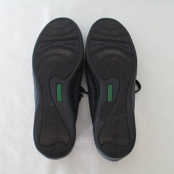 90er Jahre Schnürschuhe Denim Tennis Schuhe Heuschrecken Jean Sneakers 1990er Jahren Schuhe Jahrgang Sneakers dunkle Denim Tennis
