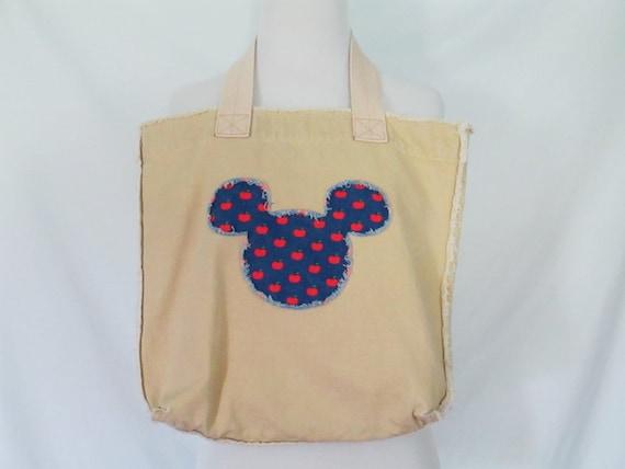 Disney mickey mouse tote bag mickey mouse applique bag disney etsy