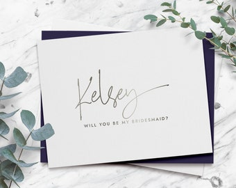 foil ring bearer proposal card KELSEY wedding party proposal cards Obviously you/'re going to be my ring bearer card