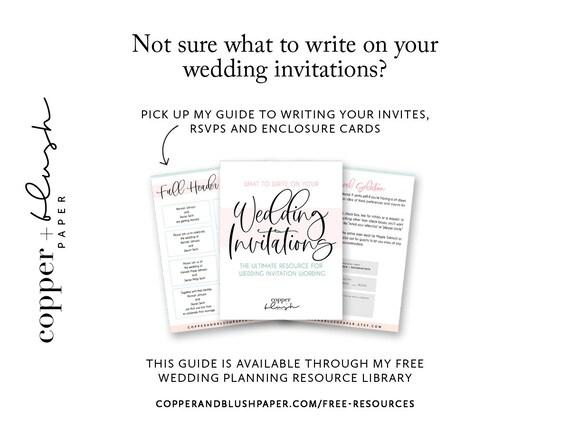 Custom Foil Wedding Invitation Set Handmade Wedding Invites Finley