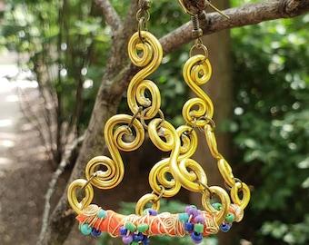 Klimt infused earrings