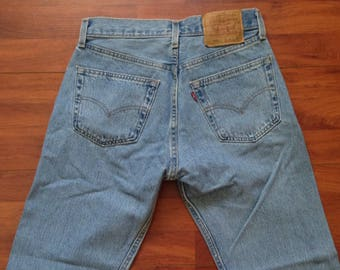 90's Faded Levi's 501 Jeans - Fit Like 30W 31L - Made in USA - Vintage Levi's