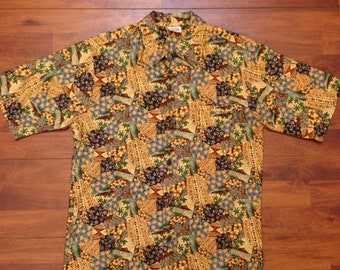 Vintage Barefoot In Paradise Hawaiian Shirt Made in USA Men/'s