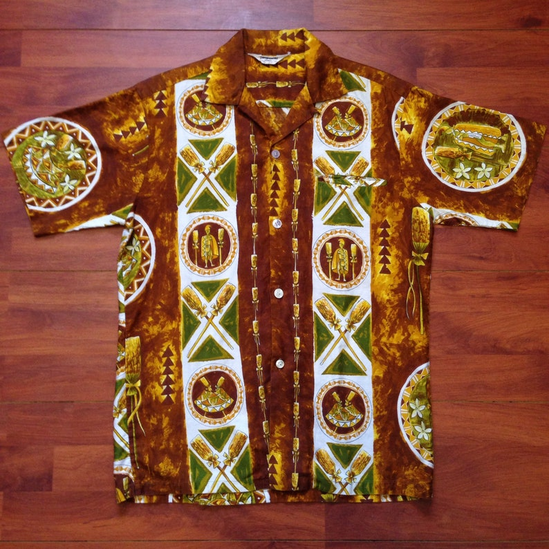5511dab3 60's Tropicana Hawaiian Shirt Hawaiian Royalty Fits | Etsy