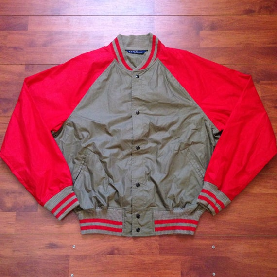 80's Ralph Lauren Polo Bomber - Fits like Large -… - image 1