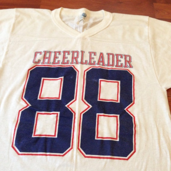 4f3d72d2787b3c 80's Cheerleader T-shirt/Jersey Made in USA Artex   Etsy
