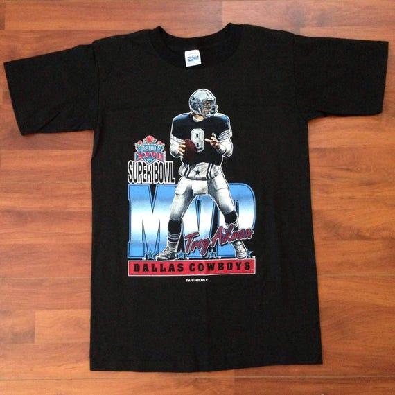 Troy Aikman Super Bowl XXVII MVP T-Shirt 1992 Small  debef0049