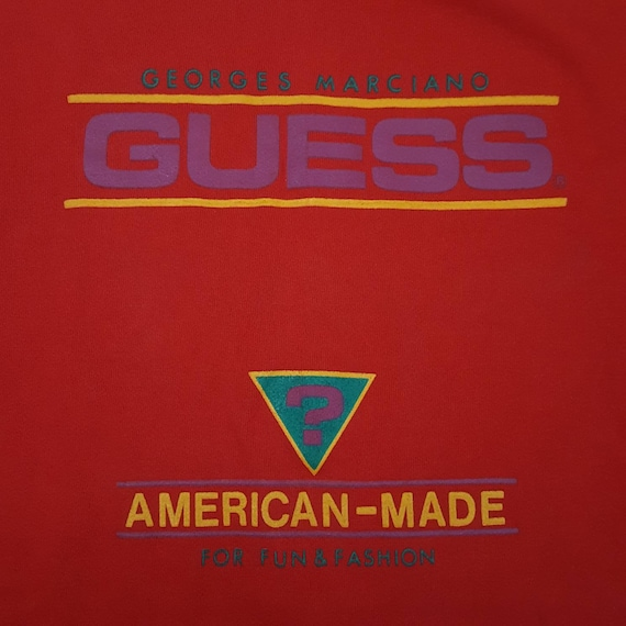 1980's Rare Guess One Size Fits All Sweatshirt - … - image 3