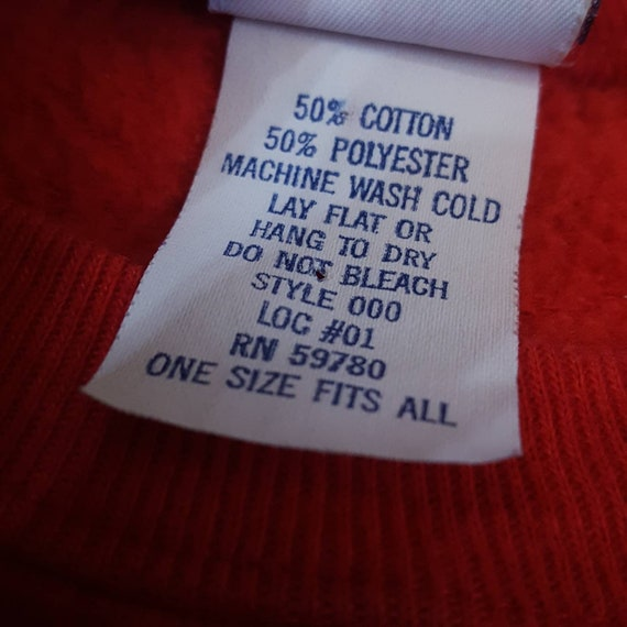 1980's Rare Guess One Size Fits All Sweatshirt - … - image 6