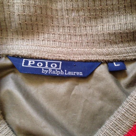 80's Ralph Lauren Polo Bomber - Fits like Large -… - image 3