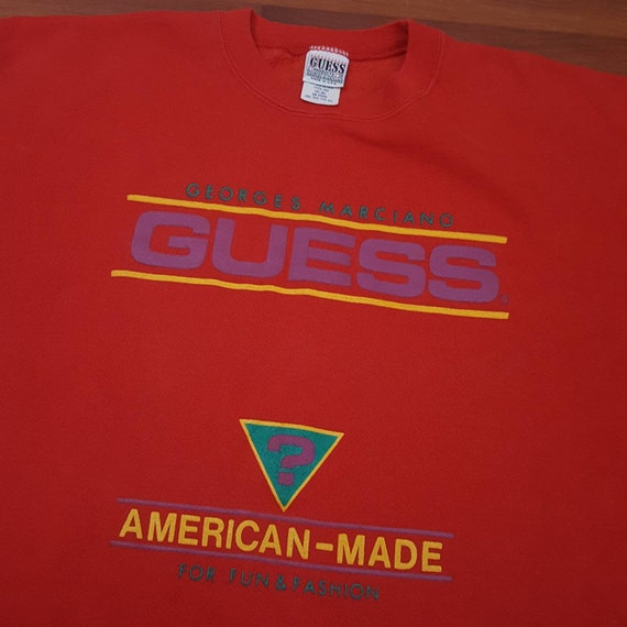 1980's Rare Guess One Size Fits All Sweatshirt - … - image 4