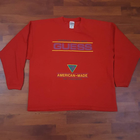 1980's Rare Guess One Size Fits All Sweatshirt - V
