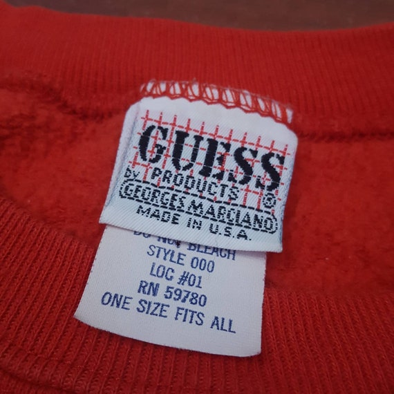1980's Rare Guess One Size Fits All Sweatshirt - … - image 5