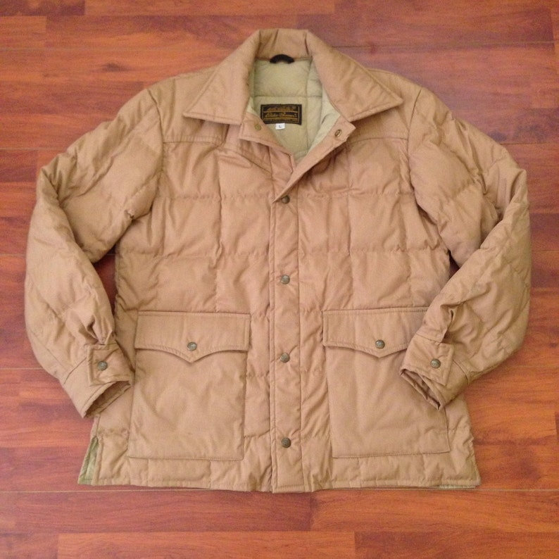 70's Eddie Bauer Expedition Outfitters, Toronto, Canada Down Jacket - Large  - Tan