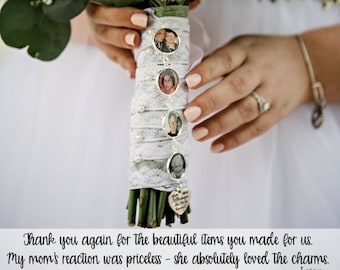 Jewelry & Watches Glass Photo Wedding Bouquet Charm Custom Made For You Personalized Memorial New For Sale Bridal & Wedding Party Jewelry