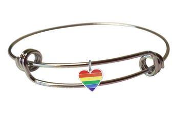 Gay Pride Jewelry- Gay Pride Bracelet- LGBTQ Pride- Rainbow Bracelet- LGBTQ Bracelet- LGBTQ Pride Charms