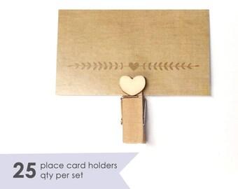 25 Place Card Holder Wedding- Wedding Place Card Holders- Wedding Placecard Holders- Placecard Holder- Wedding Name Card Holder