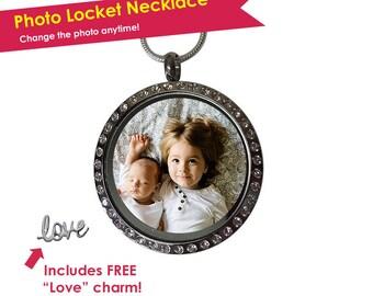 Photo Locket Necklace- Photo Locket- Personalized Locket Necklace- Locket Photo- Locket Necklace Personalized- Memorial Locket- Mom Locket