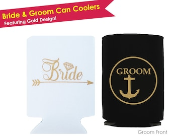 Mr and Mrs Gifts- Mr and Mrs Can Coolers- Mr Mrs Wedding Gifts- Bride and Groom Gift- Bride and Groom Can Cooler- Wedding Can Coolers- Gift