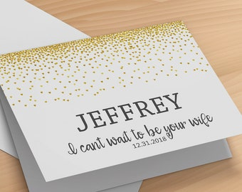 To My Husband on Our Wedding Day Card- Groom Wedding Card- Bride Wedding Greeting Card- To My Groom on Our Wedding Day Card- Wedding Card