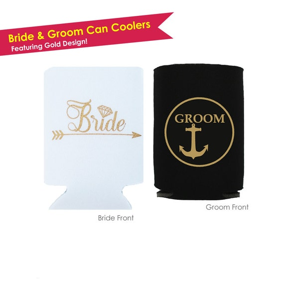 Can Cooler Foam Holder Wedding Gift Set Accessories Decoration and Mrs Mr