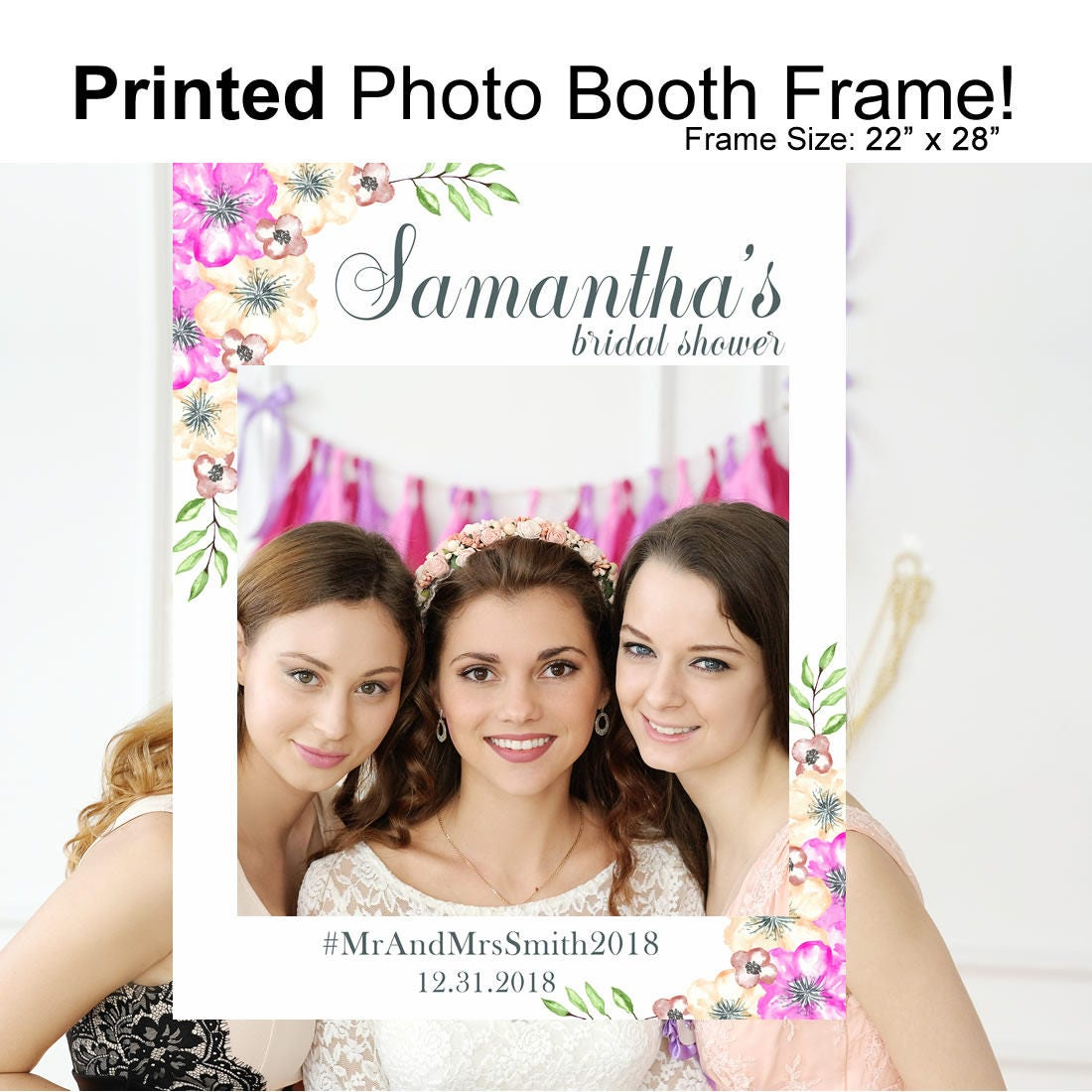 Bridal Shower Photo Booth Frame Bridal Shower Bridal Shower Etsy