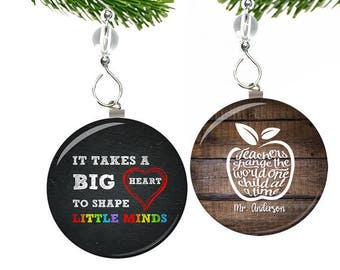 Teacher Christmas Ornament- Teacher Ornament- Teacher Christmas Gifts- Teacher Gifts- Daycare Teacher Gift- Best Teacher Gift Thank You Gift