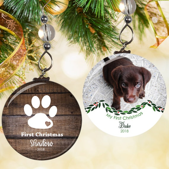 Dogs First Christmas Ornament- Puppys First Christmas Ornaments- Puppys 1st  Christmas- Pets First Christmas Ornament Puppies First Christmas - Dogs First Christmas Ornament Puppys First Christmas Etsy
