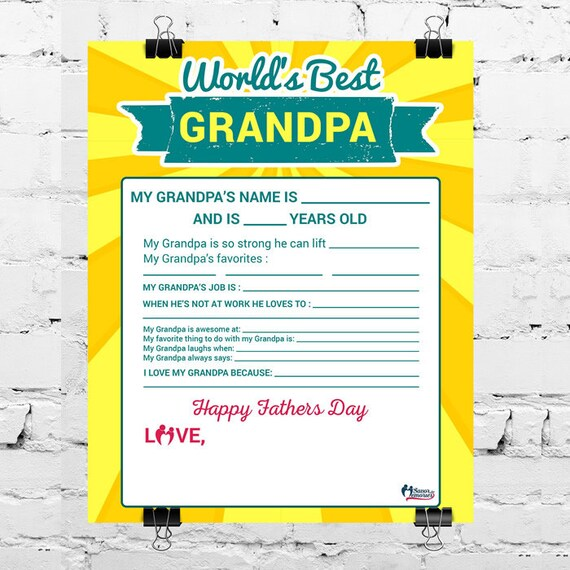 picture regarding All About My Papa Printable referred to as SALE: Worlds Simplest Granda Printable- All Pertaining to My Grandpa- Fathers Working day Printable- Fathers Working day Reward for Grandpa- Grandpa Reward printable