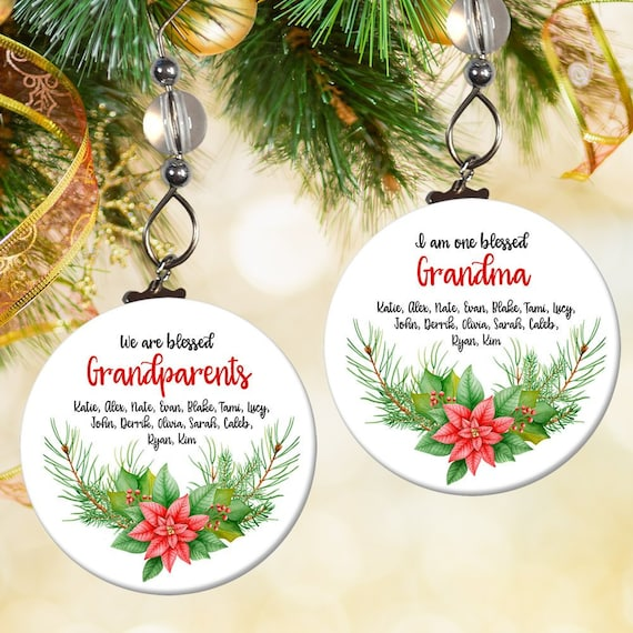 ORNAMENT SLED FAMILY 2-5 NAMES PERSONALISED CHRISTMAS TREE DECORATION