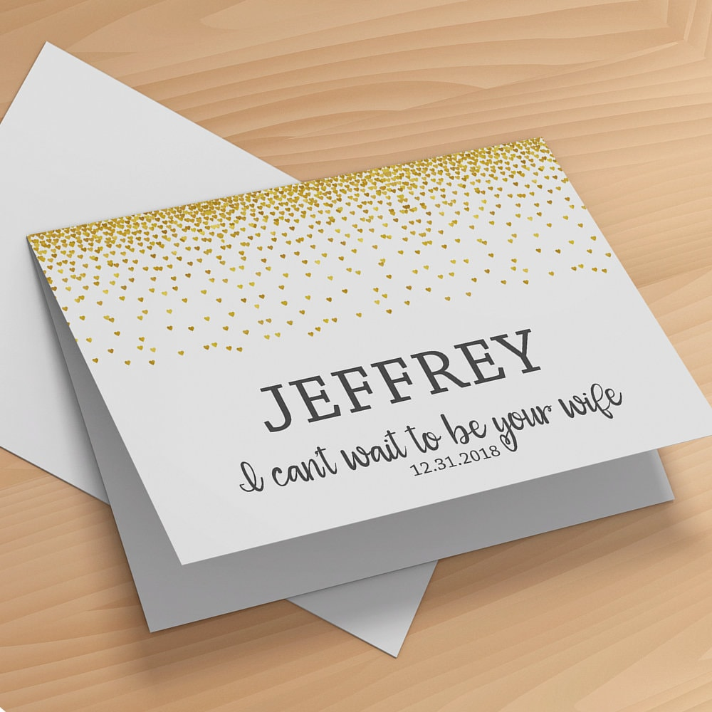 Gift For My Husband On Our Wedding Day: To My Husband On Our Wedding Day Card Groom Wedding Card